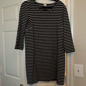 J.Crew Factory black and white striped dress